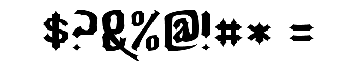 Nightwarrior Font OTHER CHARS