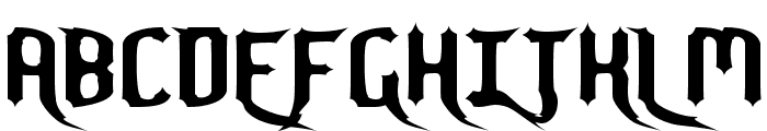 Nightwarrior Font UPPERCASE