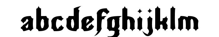 Nightwarrior Font LOWERCASE