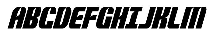 Nightwraith Condensed Italic Font UPPERCASE