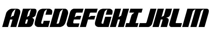Nightwraith Italic Font UPPERCASE