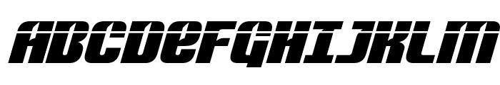 Nightwraith Laser Italic Font UPPERCASE