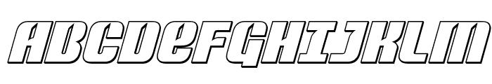 Nightwraith Outline Italic Font UPPERCASE