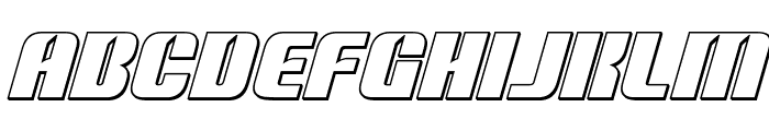 Nightwraith Outline Italic Font LOWERCASE
