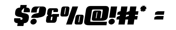 Nightwraith Semi-Italic Font OTHER CHARS