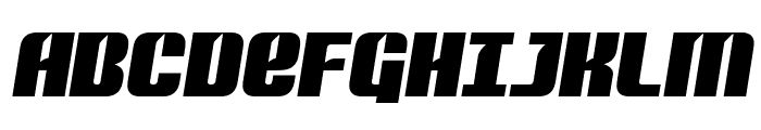 Nightwraith Semi-Italic Font UPPERCASE