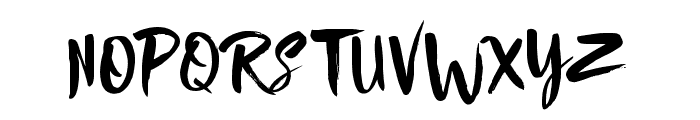 Nightype Font UPPERCASE