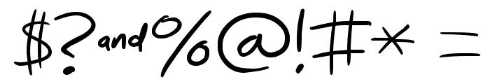 Nihilschiz-Handwriting Font OTHER CHARS