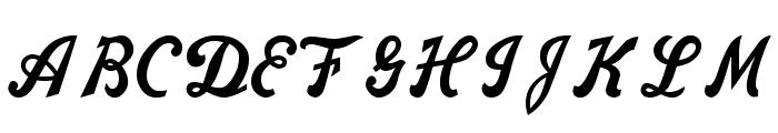 Nike Script Font UPPERCASE