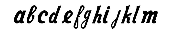 Nike Script Font LOWERCASE