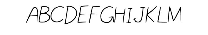 Nikukurin_s_handwriting Font UPPERCASE