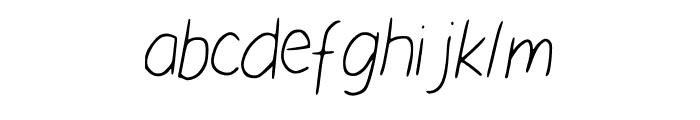 Nikukurin_s_handwriting Font LOWERCASE