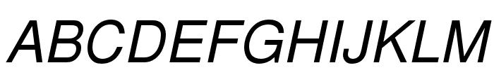 NimbusSanL-RegIta Font UPPERCASE
