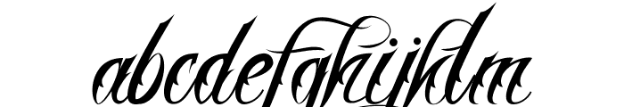 Nina Script  Medium Font LOWERCASE