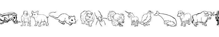 Nina's Animals Font UPPERCASE