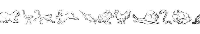 Nina's Animals Font LOWERCASE
