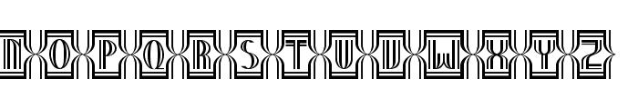 Nineteen Ten Vienna - Extras Font UPPERCASE
