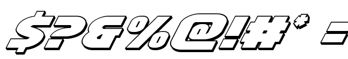 Ninja Garden 3D Italic Font OTHER CHARS