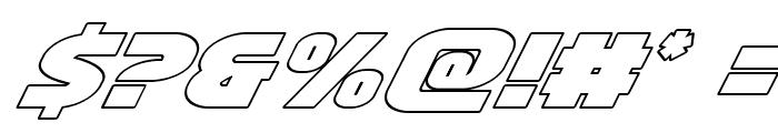 Ninja Garden Outline Italic Font OTHER CHARS