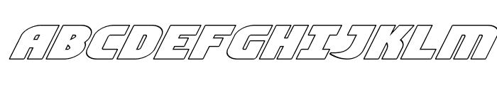 Ninja Garden Outline Italic Font UPPERCASE
