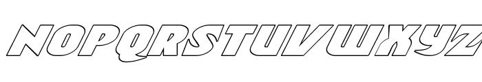 Ninja Garden Outline Italic Font LOWERCASE