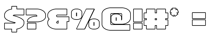 Ninja Garden Outline Font OTHER CHARS