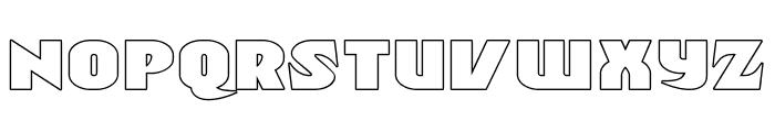 Ninja Garden Outline Font LOWERCASE