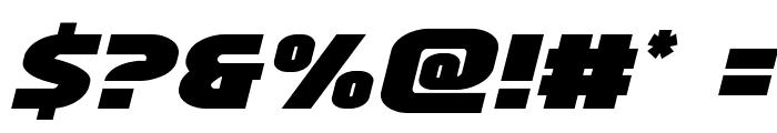 Ninja Garden Semi-Italic Font OTHER CHARS