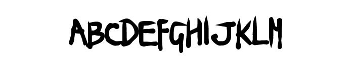 Ninja Penguin Font UPPERCASE