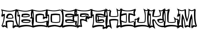 NinjaLine Font UPPERCASE