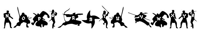 Ninjas Font UPPERCASE