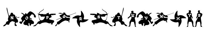 Ninjas Font LOWERCASE