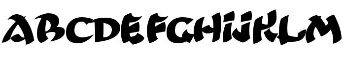 Ninjastrike Font UPPERCASE