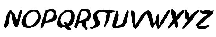 Ninjutsu BB Italic Font LOWERCASE