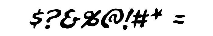NinjutsuBB-Italic Font OTHER CHARS