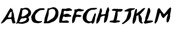 NinjutsuBB-Italic Font UPPERCASE
