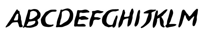 NinjutsuBB-Italic Font LOWERCASE