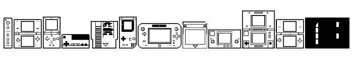 Nintendo Dingbats NBP Regular Font UPPERCASE