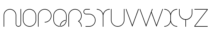 Nioubes Light Font UPPERCASE