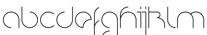 Nioubes Light Font LOWERCASE