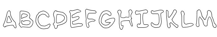 NipCen's Handwriting Outline Font UPPERCASE