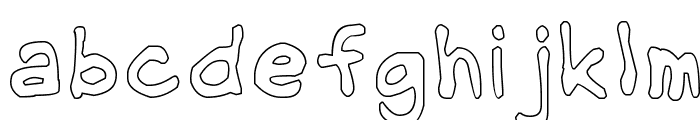 NipCen's Handwriting Outline Font LOWERCASE
