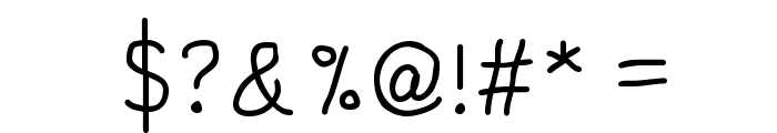 NipCen's Print Unicode Font OTHER CHARS
