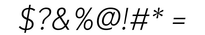 Niramit ExtraLight Italic Font OTHER CHARS