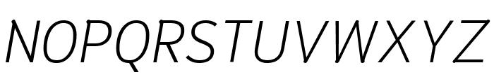 Niramit ExtraLight Italic Font UPPERCASE