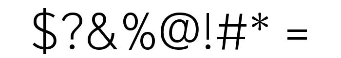 Niramit ExtraLight Font OTHER CHARS