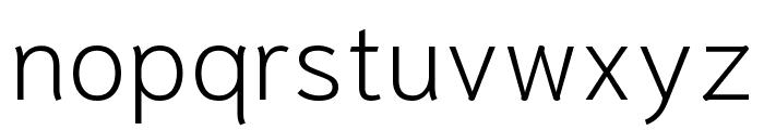 Niramit ExtraLight Font LOWERCASE