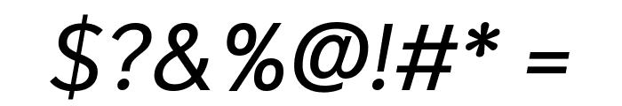 Niramit Italic Font OTHER CHARS