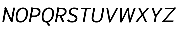 Niramit Italic Font UPPERCASE