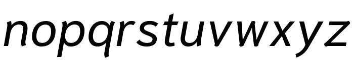 Niramit Italic Font LOWERCASE